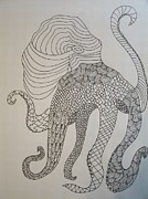 Octopus Drawings - Octopus by Samantha L