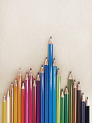 Colored Pencil Photos - Odd Thing Out Pens by Holloway