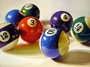 Pool Balls Posters - Oddball Poster by Lisa  Ober