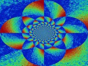 Oddly Mandala Print by Chuck Taylor