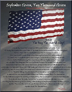 9-11 Posters - Ode for September Eleven Anniversary Poster by DigiArt Diaries by Vicky Browning