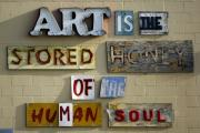 Stored Metal Prints - Ode to Art Metal Print by Jill Reger