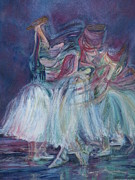 Ballet Dancers Painting Posters - Ode to Degas Poster by Nancy Barry