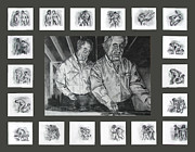 Industrial Art Drawings Prints - Ode to Kentridge Print by Ryan Babcock