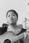 Folk Singers Framed Prints - Odetta Holmes 1930-2008, African Framed Print by Everett