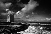 Stormy Weather Posters - Odowds Rosslea Castle And Easkey Pier Easkey County Sligo Republic Of Ireland Poster by Joe Fox