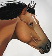 Horse  Paintings - Odysseus by Brenda Wolf