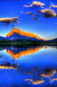Mountain Reflection Prints - Of Geese and Gods Print by Scott Mahon