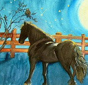 Colts Paintings - Of Horses and Wishes by Lil Taylor