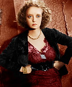Gold Necklace Prints - Of Human Bondage, Bette Davis, 1934 Print by Everett