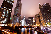 Chicago River Prints - Of Liquid And Steel Print by Daniel Chen