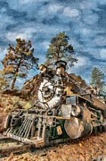 Rail Digital Art - Of Mountain and Machine by Jeff Kolker
