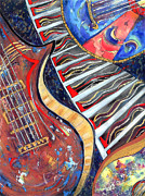 Music Paintings - Off Beat Blues by Cheryl Ehlers