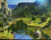 Abiquiu Paintings - Off the John Dunn Bridge by Onyx Gallery of Kemper Coley Fine Art