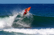 Sports Photos - Off the Lip by Paul Topp