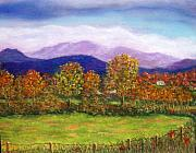 Summer Mountain View Originals - Off Walnut Hollow Road by Sandy Hemmer