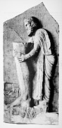 Greek Sculpture Prints - Offering To The Greek God Of Medicine Print by