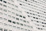 Hi-rise Framed Prints - Office Block Windows Framed Print by Colin Cuthbert