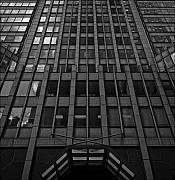 Building Reflections Prints - Office Building Midtown Manhattan Print by Robert Ullmann