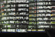 Overtime Photos - Office buildings at More London by night by Stefano Baldini