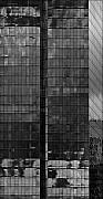 Building Reflections Prints - Office Buildings White Plains NY Before the Rain 3 Print by Robert Ullmann