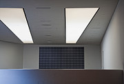 Office Cubicle Framed Prints - Office Ceiling Framed Print by David Buffington