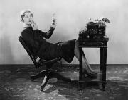 Typewriter Photos - OFFICE: TYPIST, 1920s by Granger