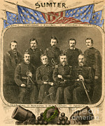Captain America Photos - Officers Of The Union Garrison At Fort by Photo Researchers