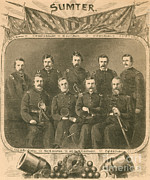 Confederacy Framed Prints - Officers Of The Union Garrison, Fort Framed Print by Photo Researchers