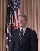 Carter Art - Official Portrait Of President Jimmy by Everett