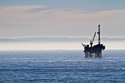 Offshore Drilling Framed Prints - Offshore Oil Drilling Rig Framed Print by Roger Mullenhour