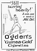 Baseball Bat Framed Prints - Ogdens Cigarettes, 1897 Framed Print by Granger