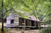Log Cabin Photos - Ogle Homestead - Smoky Mountain rustic cabin by Thomas Schoeller