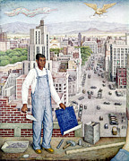 Overalls Posters - Ogorman: City Of Mexico Poster by Granger