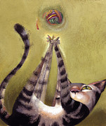 Feline Paintings - Oh Boy by Barbara Hranilovich
