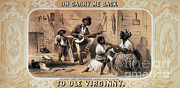 Slavery Photo Framed Prints - Oh Carry Me Back To Ole Virginny, 1859 Framed Print by Photo Researchers
