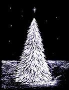 Stars Pastels Posters - Oh Christmas Tree Poster by Diane Frick