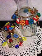 Food And Beverage Jewelry Originals - Oh La La Lollipop Charm Bracelet by Jamie Pool