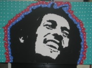 Rock Icon Drawings Posters - Oh Marley Where Are You Now Poster by Robert Margetts