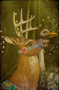 Amusement Parks Posters - Oh My Deer Poster by Jan Amiss Photography