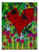 Oh My Green Heart Paintings - Oh My Green Heart by Donna Daugherty