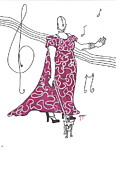Singers Drawings Prints - Oh my Print by Imelda Gregov