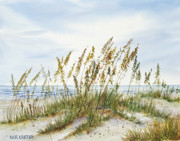 Sand Dunes Paintings - Oh The Beach by Bill Lester