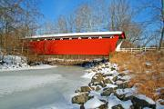 Bridge Prints Prints - Ohio Covered Bridge Print by LaMarre Labadie