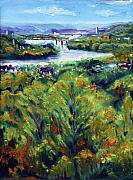 Ohio River Painting Posters - Ohio River From Ayers-Limestone Road Poster by Robert Sako