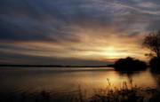 Ohio River Sunset Print by Sandy Keeton
