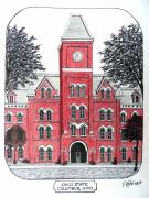 Pen And Ink Prints - Ohio State Print by Frederic Kohli