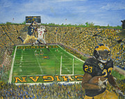 Football Paintings - Ohio State vs. Michigan 100th Game by Travis Day