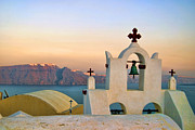 Greek Islands Framed Prints - Oia in Santorini Framed Print by David Smith