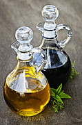 Salad Photos - Oil and vinegar by Elena Elisseeva